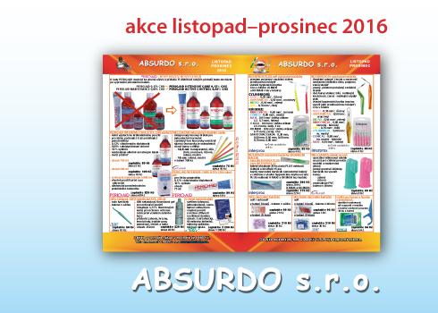 ABSURDO – akční nabídky listopad/prosinec 2016