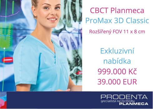 CBCT Planmeca ProMax 3D Classic FOV 11 x 8 cm za 999.000 Kč / 39.000 EUR