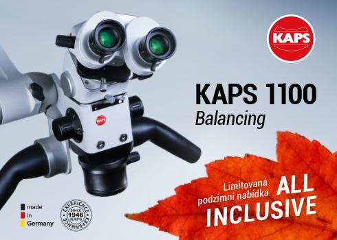 """KAPS 1100 Balancing – Prémiový německý mikroskop nyní v akčním podzimním balíčku """"VŠE V CENĚ"""""""