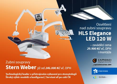Zubní souprava Stern Weber s osvětlením nad křeslo HLS